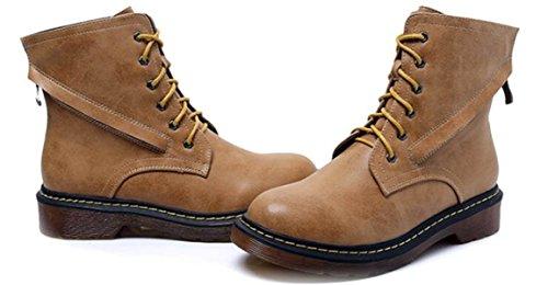 E Martin Otoño Zapatos Cortas Inglaterra Amarillo Encaje Botas Invierno qCCdz