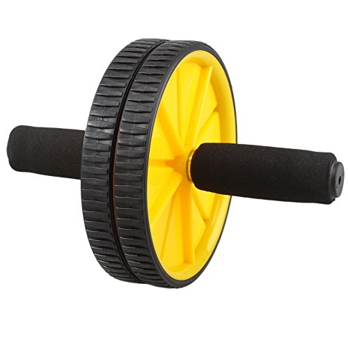 Wheel Abdominal Fitness Gym Roller Workout Exercise Black Set