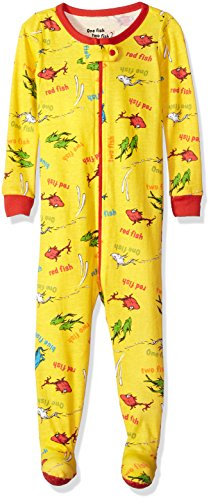 - Intimo Baby Infant Dr. Seuss One, Two Fish Pajama Sleeper, Yellow, 24MO