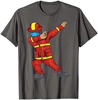 Dabbing Firefighter  | Cute Dancing Firefighter Gift T-shirt | Size S - 5XL