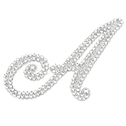 Rhinestone Alphabet Monogram Stickers Letter Initial Wedding Favor Invitation (Letter A)