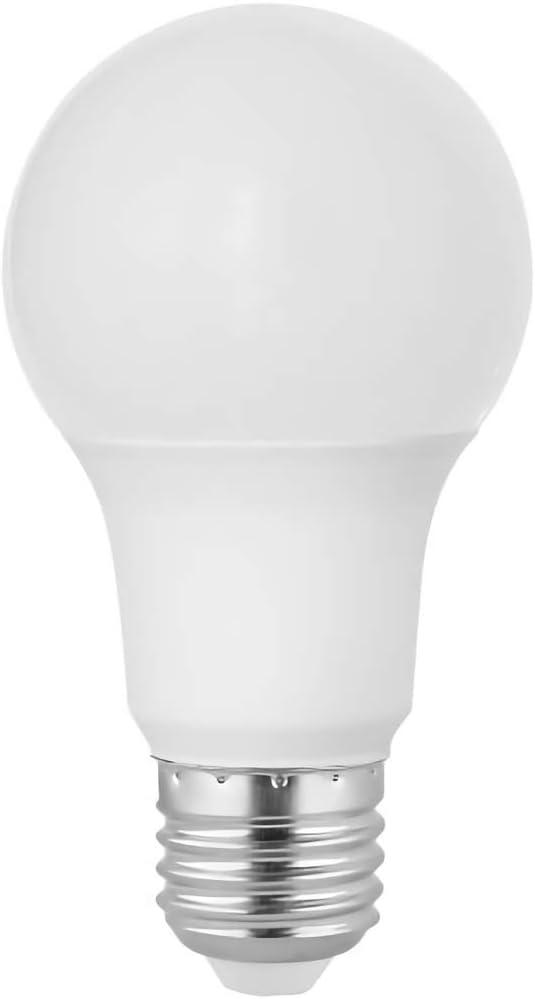 4.38 MOL 2.38 MOD E26 ANSI Base 120V Frosted Finish Medium Base 10000 Rated Hours A19 Shape 9W 800 Lumens 10 Bulb Value Pack 5000K Satco S11401 LED Bulb