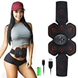 Abs Stimulator Muscle Toner Trainer EMS Abdominal Trainer Ultimate Ab Stimulator for Work Out Abs Power Fitness Abs Training Gear Flex Belt Workout Equipment Portable