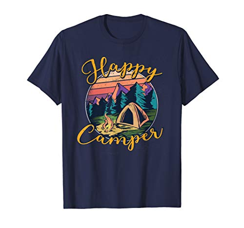 Cute Happy Camper Retro Vintage Style Forest Camp Artwork -