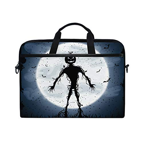 (Laptop Case, Skull Halloween Pattern Computer Sleeve Protective Bag 3 Layer with Durable Zipper for Lenovo Hp MacBook Pro Neoprene Notebook 14 15 15.4)