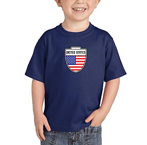 USA United States, American - Soccer T-Shirt (Navy Blue, ()