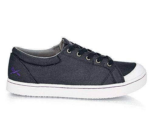 SCHWARZ//Wei/ß Gr/ö/ße 39 EU Shoes for Crews M30390-39//6 MOZO MAVEN Rutschhemmende Canvas-Schuhe f/ür Damen