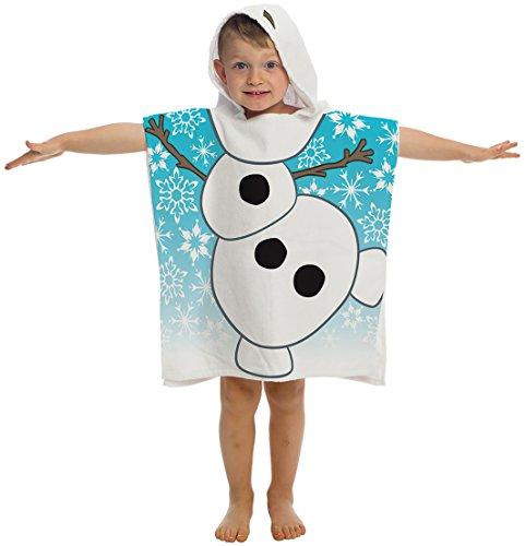 Disney Frozen Olaf Cotton Hooded Poncho Beach/Bath/Pool T...
