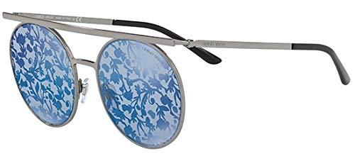 Giorgio Armani Womens Sunglasses Black/Blue Metal - Non-Polarized - 56mm