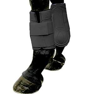 Intrepid International Galloping Horse Boots, Black, Medium