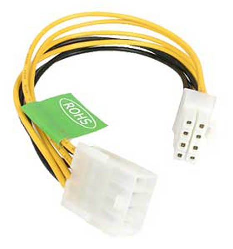 8 Pin Connector (StarTech.com 8-Inch EPS 8-Pin Power Extension Cable)