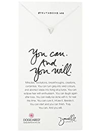 """Dogeared You Can And You Will Pyramid Pendant Necklace, 18"""""""