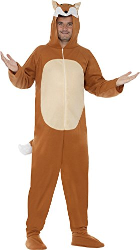 Large Brown Men's Fox Costume (Womens Halloween Costume Ideas 2017 Uk)