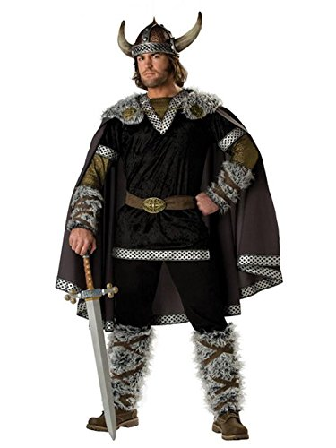 Mens Viking Costumes (InCharacter Costumes Men's Viking Warrior Costume, Black/Gold,)