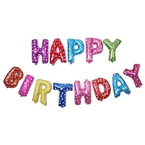 Waymeduo - Banderines autoinflables para cumpleaños (40,6 cm ...