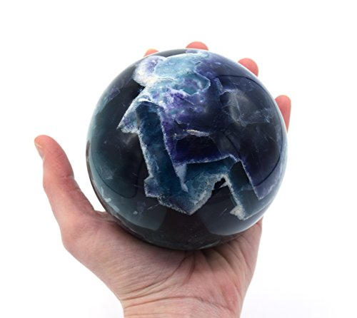 Fluorite Crystal Aura Sphere, Collector's Quality, 4