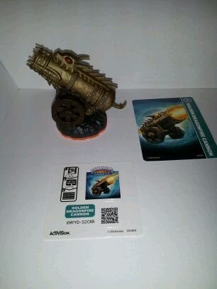 Skylanders Giants LOOSE Figure Golden Dragonfire Cannon [Includes Card & Online (Dragon Skylanders)