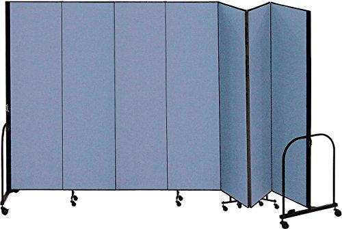 (Screenflex - CFSL407 BLUE - 13 ft. 1 in. x 4 ft, 7-Panel Portable Room Divider, Blue)