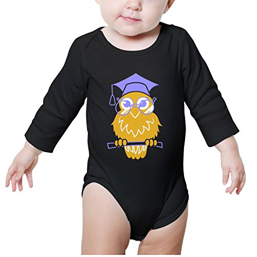 Back to School Owl Graduation Ceremony Baby Boys Fashion Baby Onesies -