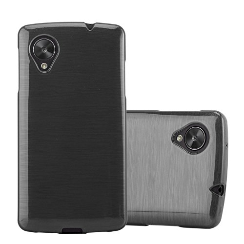 Cadorabo Case Works with LG Nexus 5 in Black - Shockproof and Scratch Resistant TPU Silicone Cover - Ultra Slim Protective Gel Shell Bumper Back Skin (Nexus 5 Bumper Case Black)