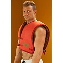HealthyLine Natural Infrared Heating Vest - Back, Chest, Neck & Shoulders Sore Muscle Pain Relief - (Medium & Soft/Flex) - Negative Ion - US FDA