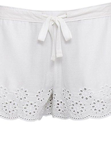 Cyberjammies 3333 Women's White AOE Range White Modal Pajama Sleepwear PJs Pyjama Short
