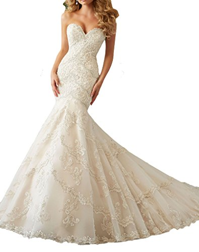 ScelleBridal 2016 Sexy Sweetheart Mermaid Lace Wedding Dresses Bridal Dress Gowns