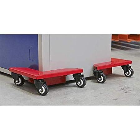 Sealey CM4 Corner Transport Dollies Set of 4 150kg Capacity