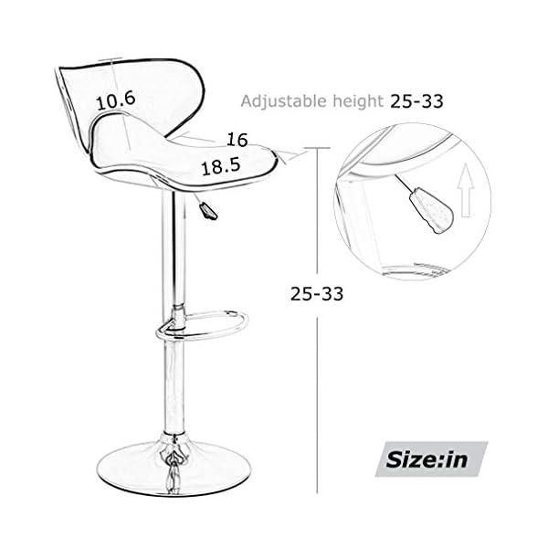 Strange Set Of 2 Adjustable Bar Stools Ibusinesslaw Wood Chair Design Ideas Ibusinesslaworg