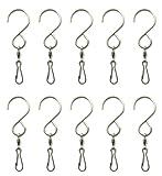 Shipityourway Swivel Clip Hanging Hooks Stainless Steel (10)