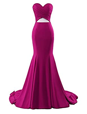 Yinyyinhs Women's Sexy Cut Out Mermaid Prom Gown Formal Long Party Bridesmaid Evening Dress