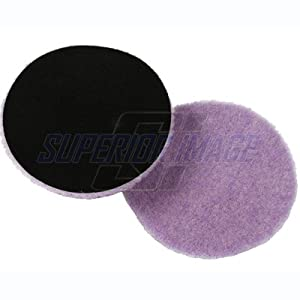 "Lake Country Purple Foamed Wool Buffing/Polishing Pad (5.5"" x 1/4"")"