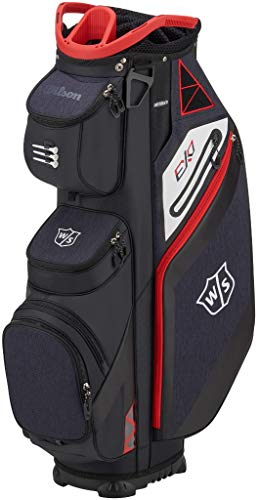 Wilson Staff EXO Cart Golf Bag, Black/Red