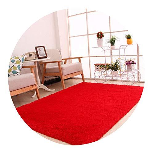 European Modern Rectangular Long Hair Carpet Anti-Slip Silk Floor mat Living Room Coffee Table Rug Bedroom Bed Thick Blanket,14,80 x160cm