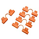 12Pcs Garden Hoop Clips Snap Clamp Netting Cover Trellis for 11MM Plant Stakes