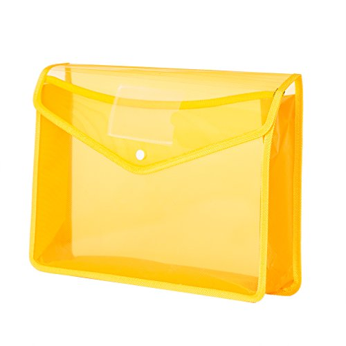 File Folders Expanding Poly Wallet File Organizer Protector 3.5 Inch Expansion,Buckle to Close,Letter Size 3 Colors (Yellow)
