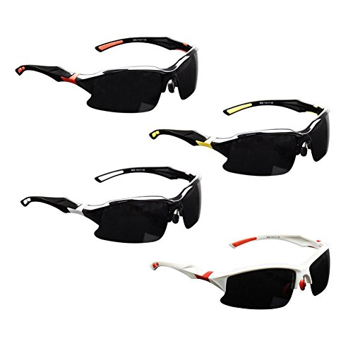 BrGuras Safety Sunglasses for Men with 400 UV Protection Polarized Lens, Mens Sunglasses with Unbreakable Frame, Sports Sunglasses for Driving Baseball Running Cycling Fishing and Golf