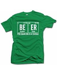 4abde540 PUB CRAWLING IS SCIENCE BEER ELEMENT FUNNY IRISH T-SHIRT Men's Tee (6.1oz