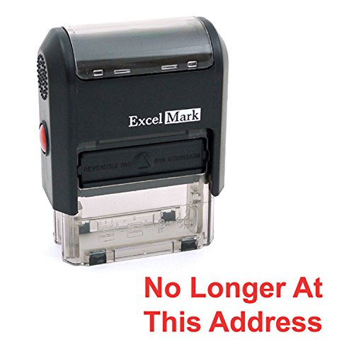 NO Longer at This Address Self Inking Rubber Stamp - Red Ink (ExcelMark A1539)]()
