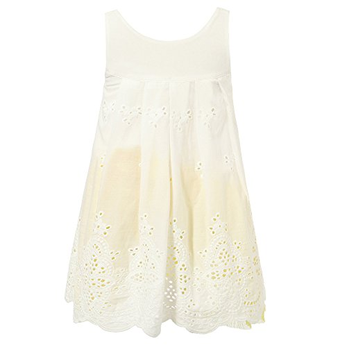 Richie House Girl's Embroidery Dress with Mesh Bottom RH1895-8/9-FBA