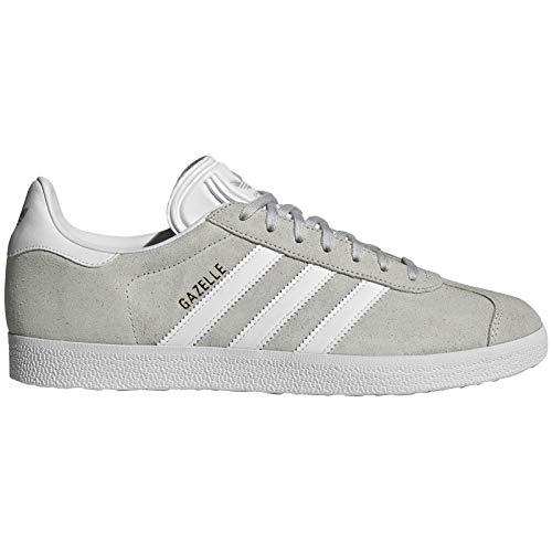 adidas Mens Gazelle Nubuck Grey One White Gold Trainers 10 US