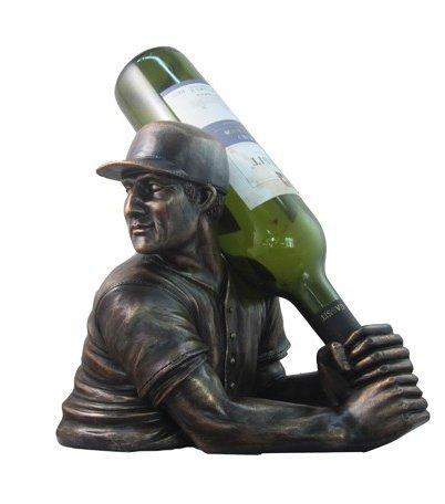 Ebros Home Brew Baseball Wine Holder (Set of 1) Bottle Holder Home Decor