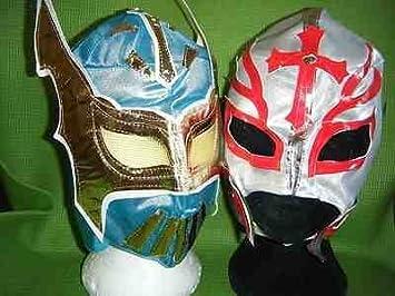 SOPHZZZZ TOY SHOP Azul Sin Cara & Color variará Rey Mysterio Máscara de lucha Disfraz Disfraz