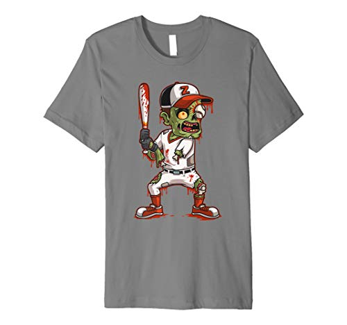 Baseball Player Halloween Outfit (Zombie Baseball Batter Halloween Trick or Treating Gift Premium)