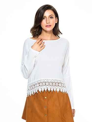 Persun Women White Sleeve Blouse