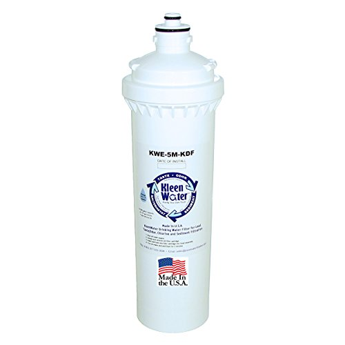 KleenWater KWE-1M-KDF-H300 Replacement Water Filter Cartridge, Compatible with Everpure H-300, New Dual 5 Micron and 1 Micron Filtration