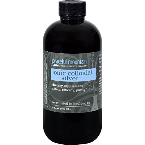 2 Pack of Peaceful Mountain Ionic Colloidal Silver - 6 fl oz