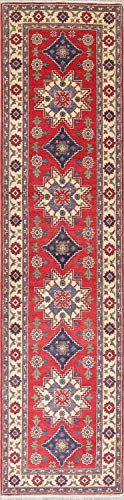 Rug Source New One-of-a-Kind Pakistani Kazak Wool Handmade Oriental Runner Rug 3x11 Red (11' 5