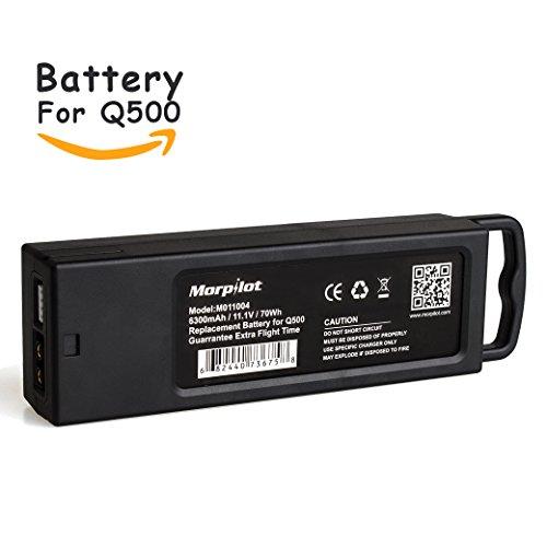 Morpilot M011004 3S 6300mAh 11.1V 70Wh Replacement LiPo Battery for Yuneec Tyhoon Q500, Q500+, Q500 4K, Typhoon G...