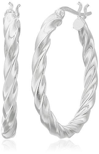 tweight Twisted 30mm Click Top Hoop Earrings ()